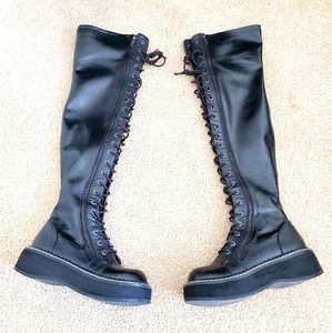 Demonia HellRaiser lace up boots